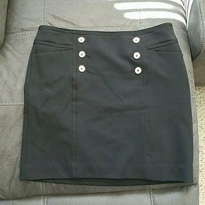Black Skirt WHBM Silver Buttons 6